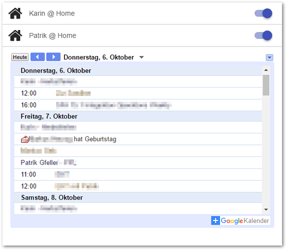 Google Sitemap Example: A Nice View Of Google Calendar In Basic UI