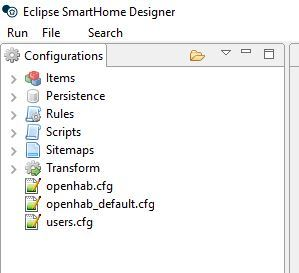 Windows Eclipse Smarthome Designer Does Not Open Config From