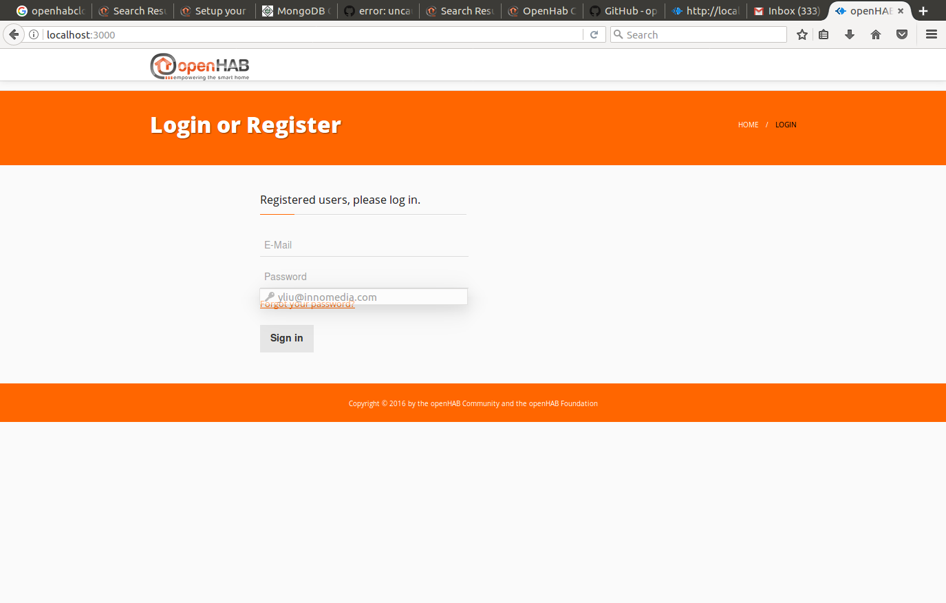 SOLVED] Openhab cloud instance register account issue