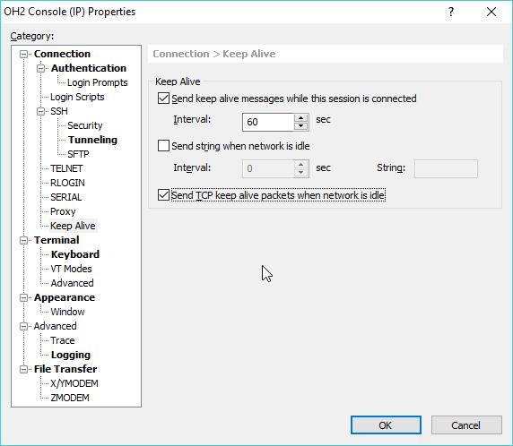 WINDOWS 7 TCP KEEPALIVE - Troubleshooting Application