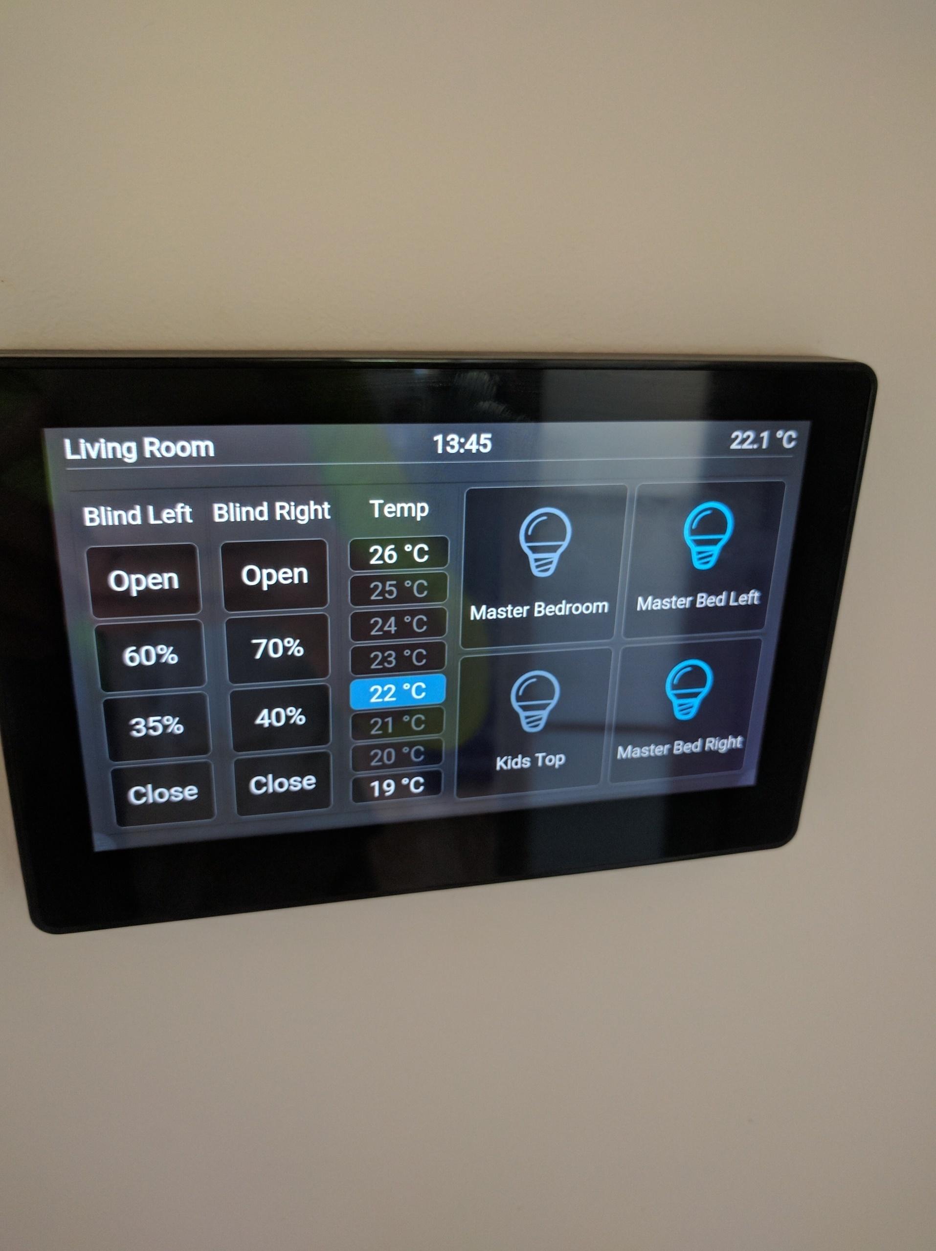 Custom Widget 8 Point Thermostat Habpanel Openhab