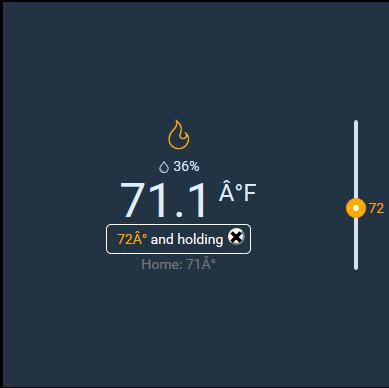 Farenheight Degree Symbol Fix On Ecobee Widget Habpanel Openhab