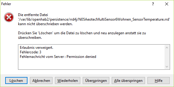 Permission denied (openhab2, winSCP) - Beginners - openHAB