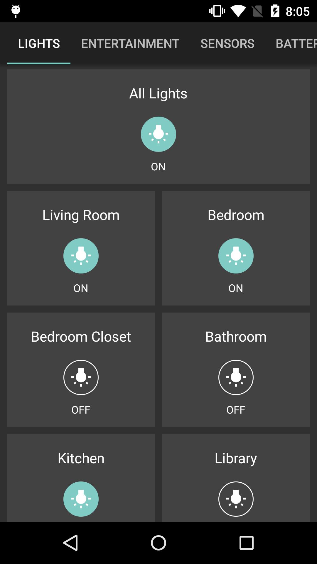 Openhab Android Widget Helligkeit