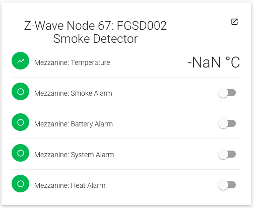 Z-Wave config of Fibaro Smoke Sensor (FGSD-002) not working