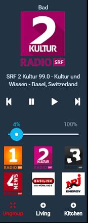 Sonos Control, Status & Favorites - Template Widget