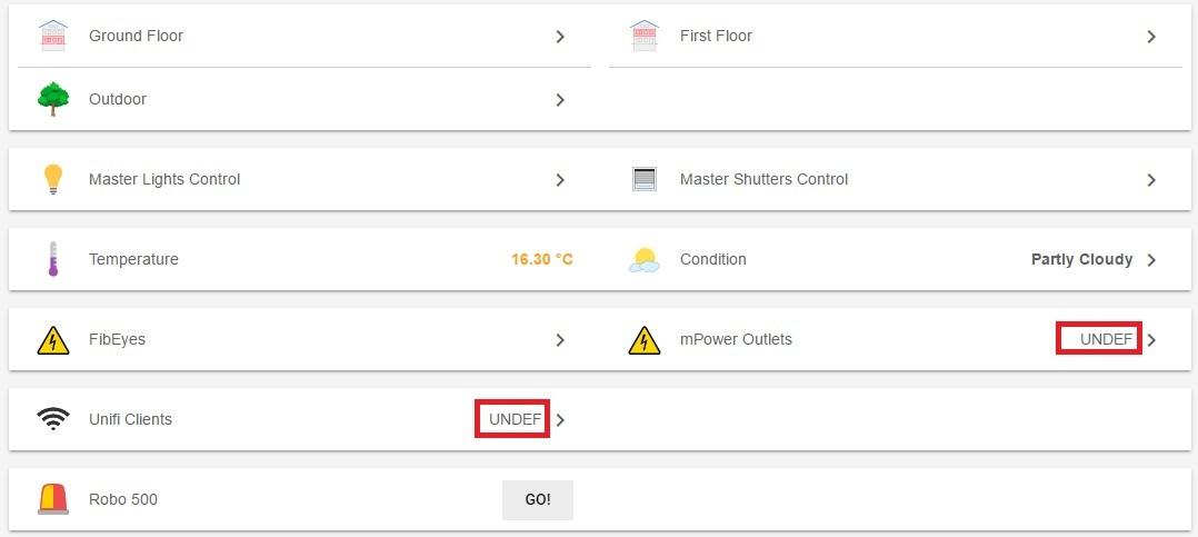 "Group Status In BasicUI Displays ""UNDEF"""