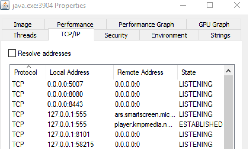 Cant connect to MQTT Embedded Broker - Persistence Services