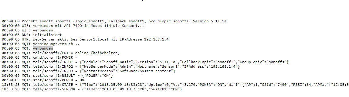 SOLVED] MQTT for SONOFF/TASMOTA this is difficult - Installation