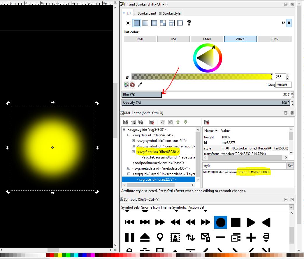 Design your SVG floorplan or dashboard for HABPanel with Inkscape