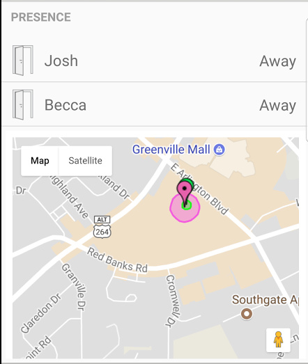 Owntracks Presence Detection and Location Display on
