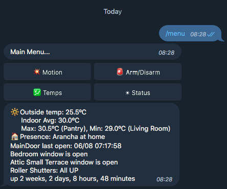 Control OpenHAB2 with Telegram and simple python script