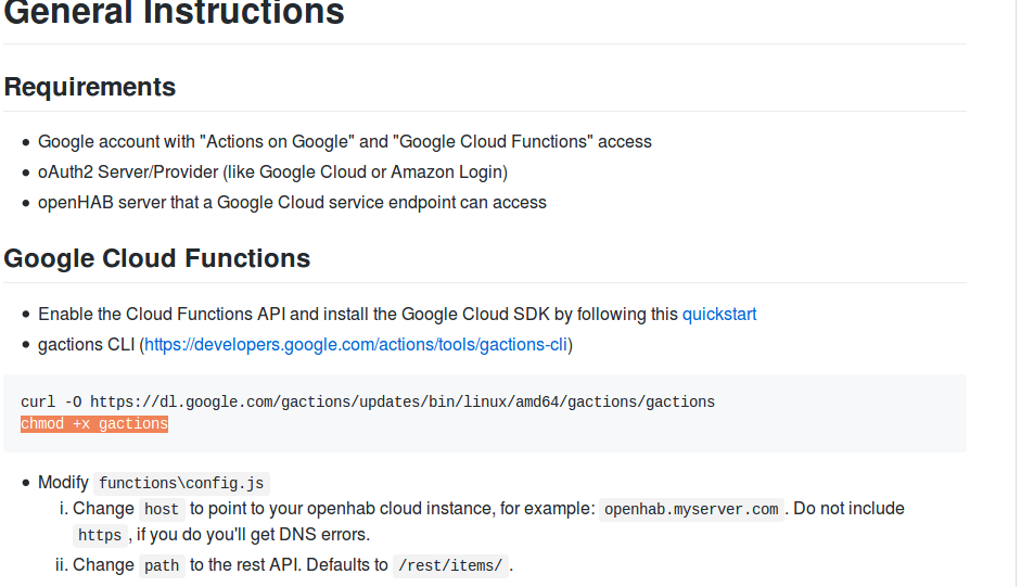 SOLVED] Integrating openhab and google assistant - Beginners